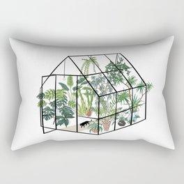 greenhouse with plants Rechteckiges Kissen
