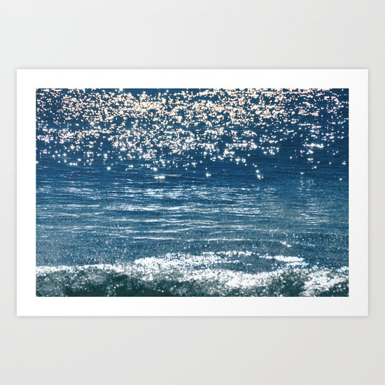 Blue Sea Sparkle Art Print