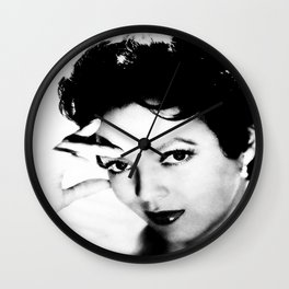 dorothy dandridge black & white photo Wall Clock