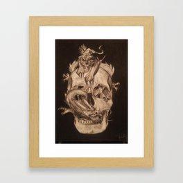 Skull,Tiger and Dragon Framed Art Print