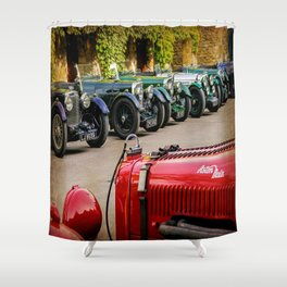 Vintage Aston Martins.  Shower Curtain