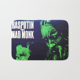 Rasputin, The Mad Monk, vintage horror movie poster Bath Mat