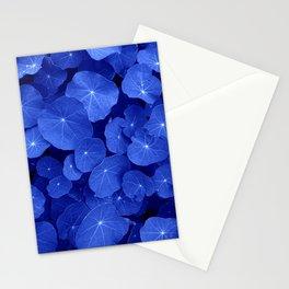 blue nasturtium leafs Stationery Cards