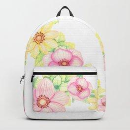 Spring Flowers Heart Wreath Backpack