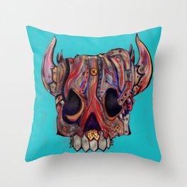 Skull Disco 6 - 588. Throw Pillow