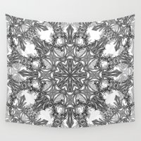 snowflake Wall Tapestries featuring Snowflake   by ArtLovePassion