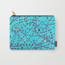 Abstract #150 Diamonds and Dashes Carry-All Pouch