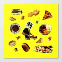 cooking Canvas Prints featuring cooking by sonso5578