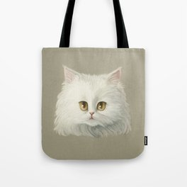 My White Cat's Face Tote Bag