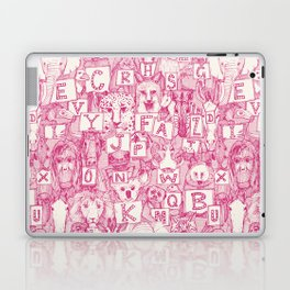animal ABC pink ivory Laptop & iPad Skin