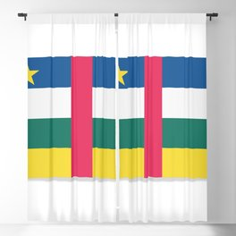 Flag of Central African Republic. The slit in the paper with shadows. Blackout Curtain