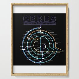 Ceres tube plan Serving Tray