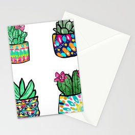 Pattern Succulents Stationery Cards