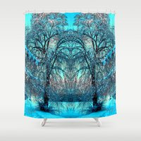 jack frost Shower Curtains featuring Frost by haroulita