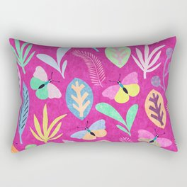 Flower and Butterfly Rectangular Pillow