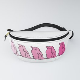 Waddle of Penguins in Pink Tones Fanny Pack