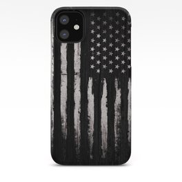 White Grunge American flag iPhone Case