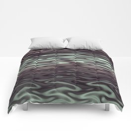 Ripples Fractal in Mint Hot Chocolate Comforters