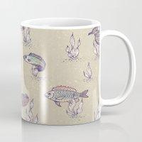 swimming Mugs featuring swimming by Lidija Paradinović Nagulov - Celandine