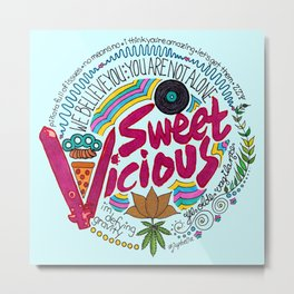 Sweet/Vicious Metal Print