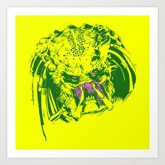 Predator (neon) Art Print