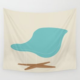 Blue La Chaise Chair by Charles & Ray Eames Wall Tapestry