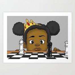 Queen of Games Art Print