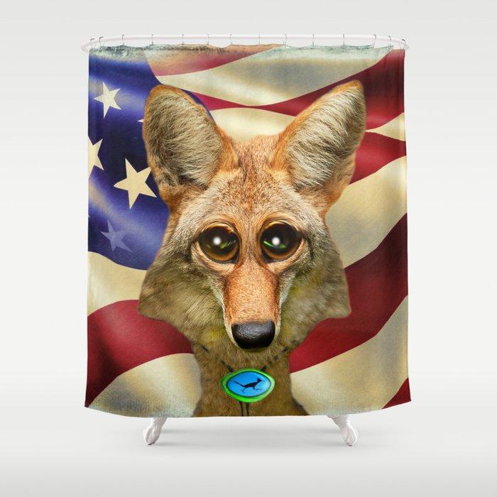 Patriotic Arizona GQ Coyote Shower Curtain