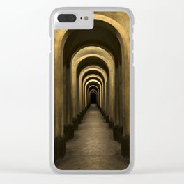 Arches of my city Clear iPhone Case
