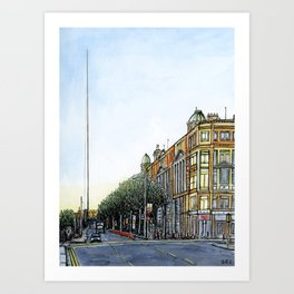 The Spire, Dublin Art Print
