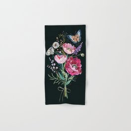 Butterfly Floral Bouquet Hand & Bath Towel