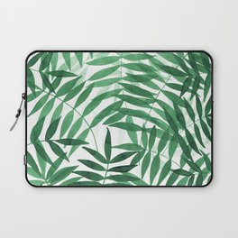Watercolor palm leaves in green Laptop Sleeve
