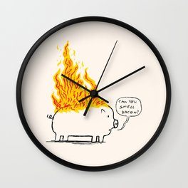 Can you smell bacon? Wall Clock