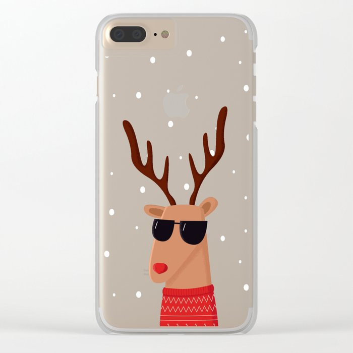 Merry Christmas Dude Clear iPhone Case