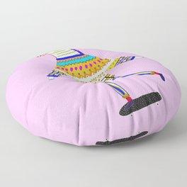 Zebra Skateboarder. Floor Pillow