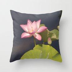 Lotus Flower by Teresa Thompson Throw Pillow