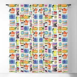 Colorful Cathrineholm Kitchen Geometric Print Blackout Curtain