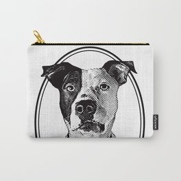 Pit Bull with oval frame Carry-All Pouch