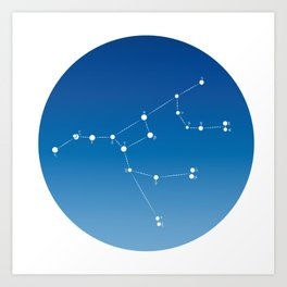 Ursa major constellation Art Print