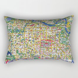 ANN ARBOR University map MICHIGAN dorm Rectangular Pillow