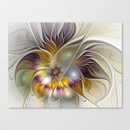 Abstract Fantasy Flower Fractal Art Canvas Print