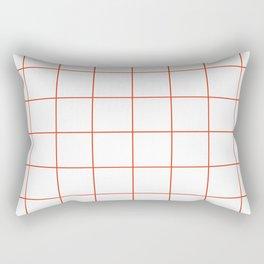 WINDOWPANE ((cherry red)) Rectangular Pillow