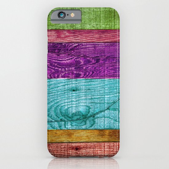 Colorful Wood  iPhone & iPod Case