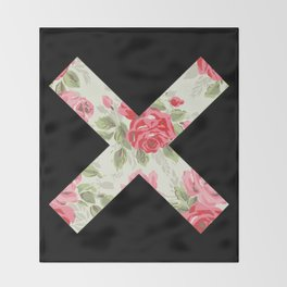 X Floral   X Throw Blanket