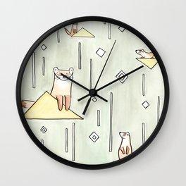 black foot ferret Wall Clock