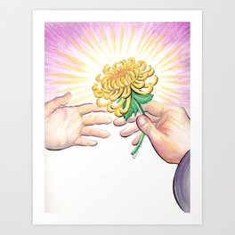 Gift of a Flower Art Print