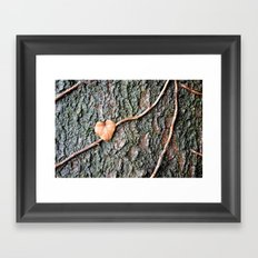 Heart and tree Framed Art Print