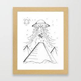UFO Pyramid Capture Framed Art Print