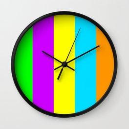 Neon Mix #3 Wall Clock