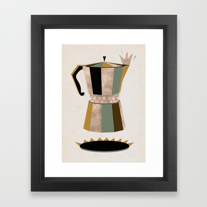 Late Night Coffee Framed Art Print